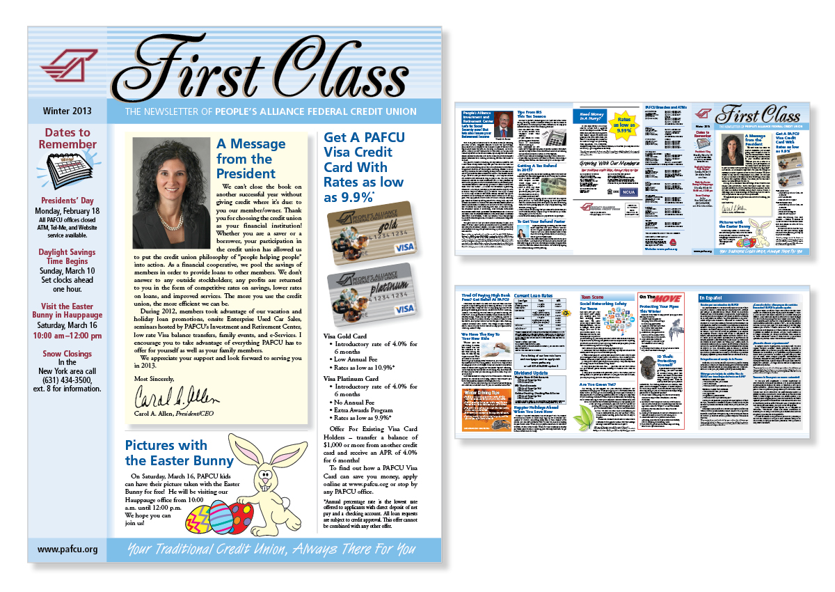 Newsletter design, Long Island, graphic design
