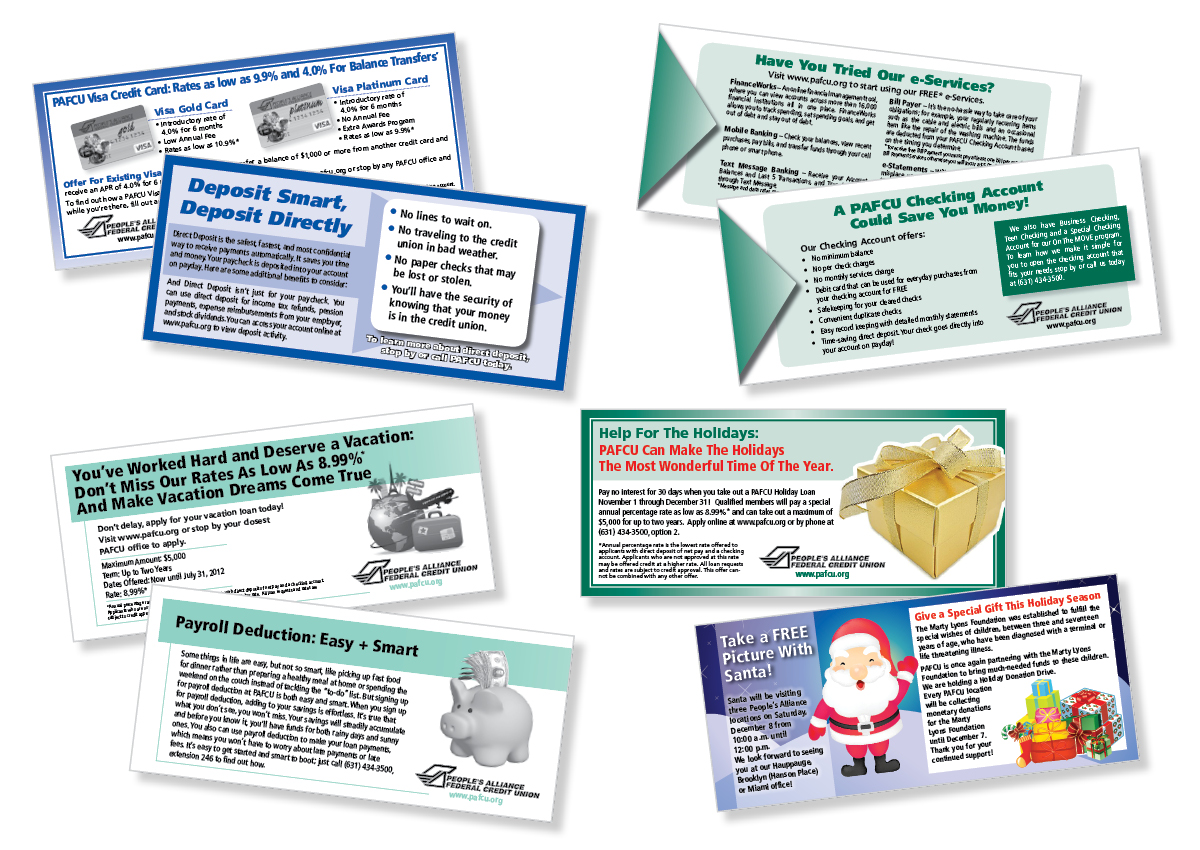 Direct mail, graphic design, printing